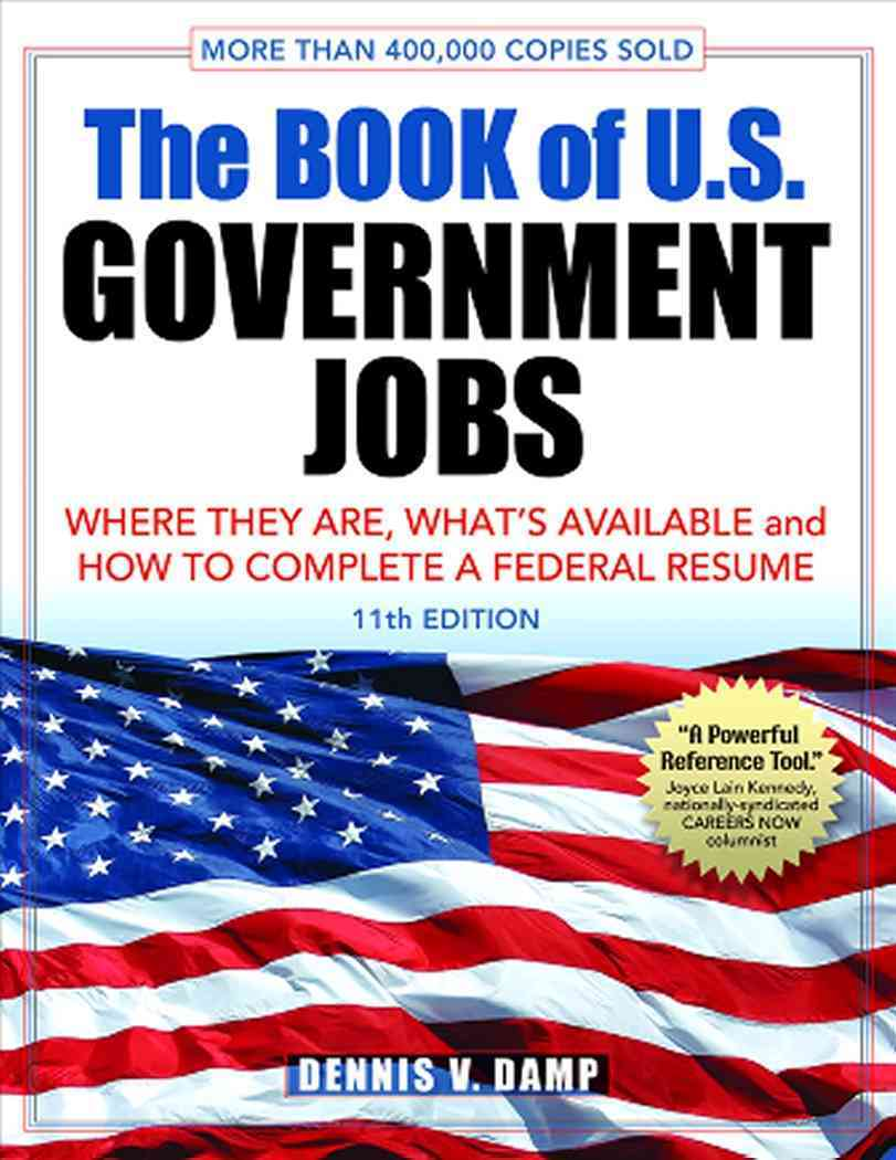 The Book of U.S. Government Jobs By Damp, Dennis V.